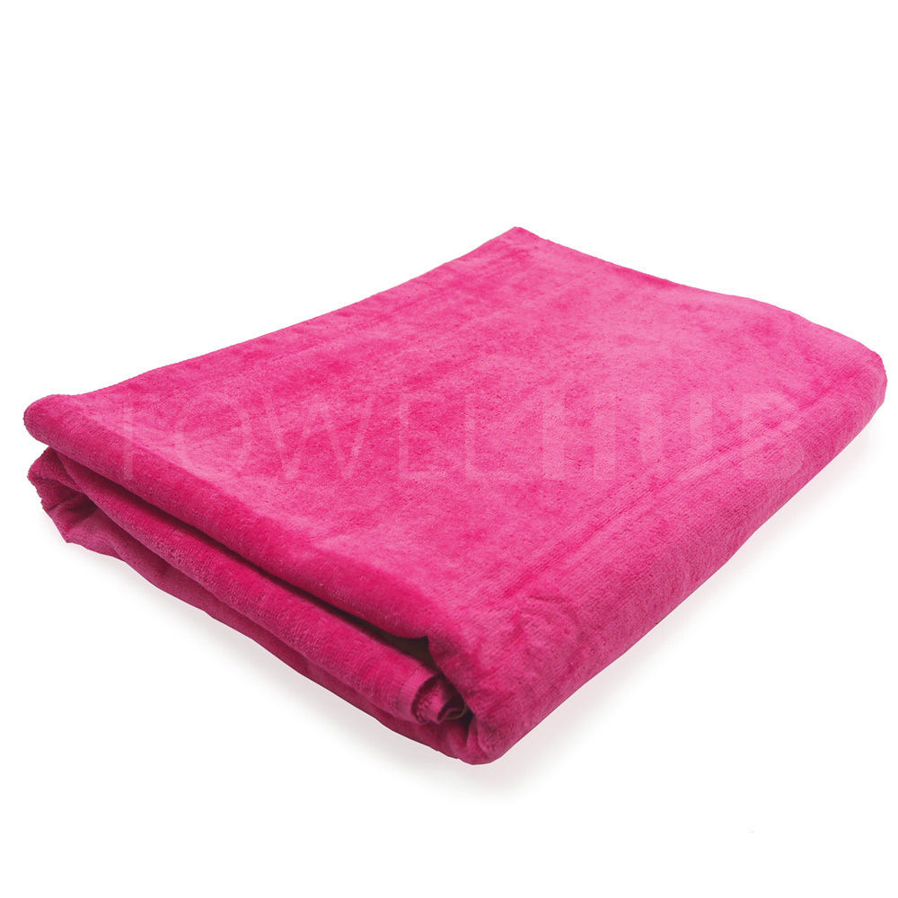 Color Beach Towels Terry Velour