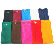 16x26 - Tri Fold Color Golf Towels with Brass Grommet & Hook