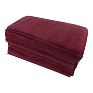 16x28 WINE Full Terry Bleach Shield Salon towels 100% Cotton 3.4 Lb